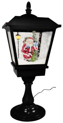 Christmas Paradise - Schneiende LED Tischlaterne  Santa Claus schwarz