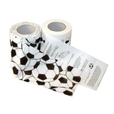 Fußball Toilettenpapier WC-Papier Klopapier f. FANs (2 Stück)