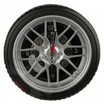 LED Reifenuhr Reifen Wanduhr Wand-Uhr beleuchtet, 35 cm