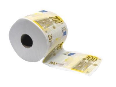 200 EURO Toilettenpapier Geld WC-Papier Gag Geschenk ¤