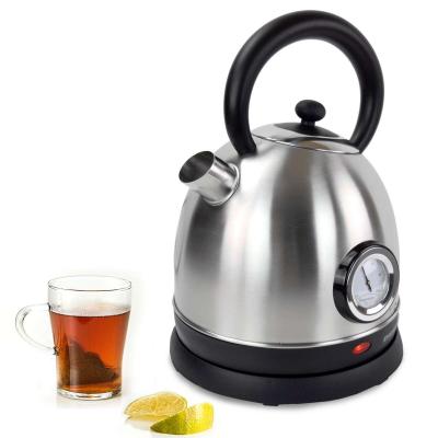 Syntrox 1,8 Liter Edelstahl schnurlos Wasserkocher mit Thermometer 360° cordess Wasse