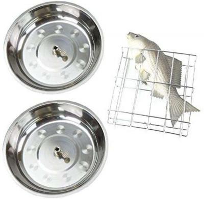 Syntrox Zubehör-Set für Dönergrills bestehend aus Fischkorb und zwei Schüsseln
