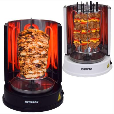 Syntrox Multifunktion Rotisserie Dönergrill Kebab Grill Schwarz Weiß weiß