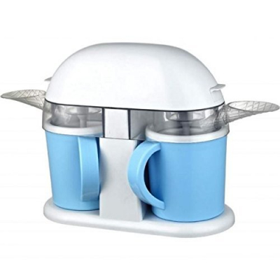 Syntrox Doppel Eismaschine mit zwei separaten Teilen und 2 Tassen