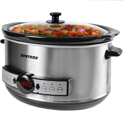 Syntrox Syntrox Germany Digitaler Slow Cooker 4,5 Liter mit Timer
