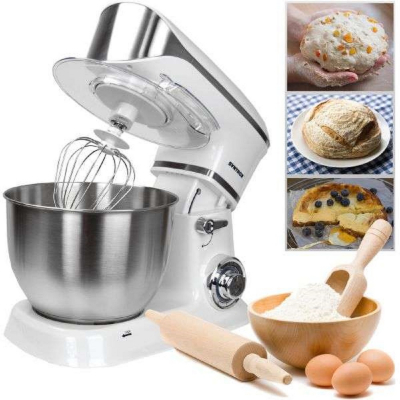 Syntrox Küchenmaschine Food Processor Knetmaschine - Syntrox Germany silber