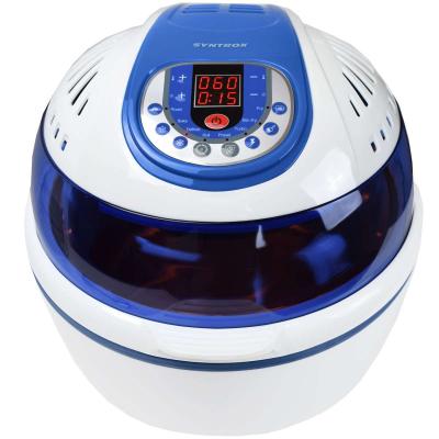 Syntrox Turbo-Heißluftfritteuse Heißluftgarer Airfryer Küchenmaschine mit LED-Display blau