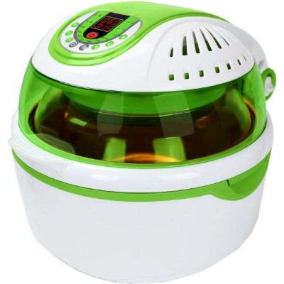 Syntrox Turbo-Heißluftfritteuse Heißluftgarer Airfryer Küchenmaschine mit LED-Display grün