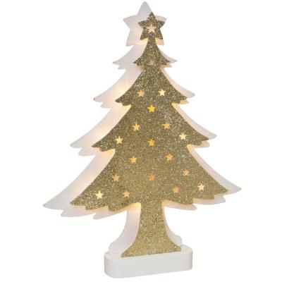 Weihnachtsleuchter Tanne, 10 amberfarbene LEDs