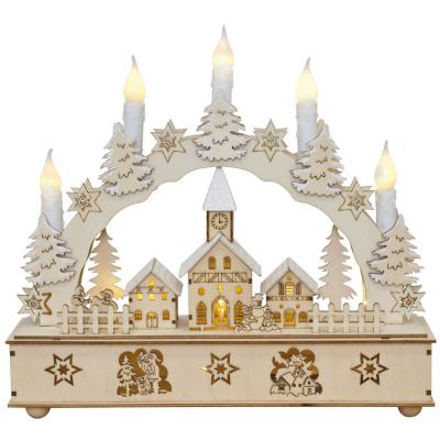 Weihnachtsleuchter Winterdorf, 12 ww LEDs,