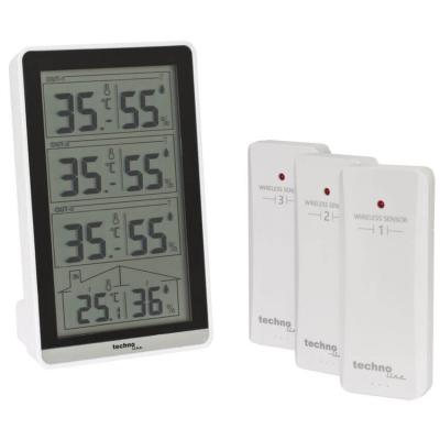 technoline Funk-Temperaturstation, WS7060, silber,