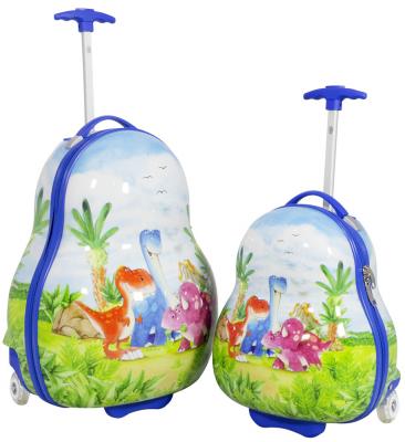 Kinder-Kofferset 2 tlg. Trolleyset Reisekoffer Hartschale DINOS