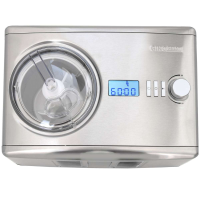 Syntrox Gino Gelati Digitale Eismaschine mit Kompressor Softeismaschine und Joghurt-Bereiter 1,5 L