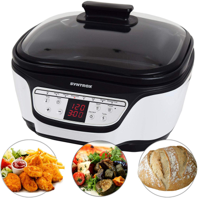 Syntrox Multikocher Multifunktionskocher Multicooker 8in1 mit Digital Panel MC-1500W