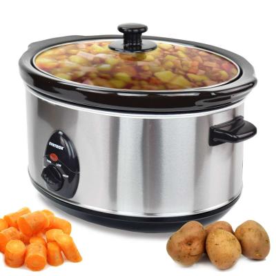 Syntrox 4,5 Liter Edelstahl Slow Cooker mit Warmhaltefunktion