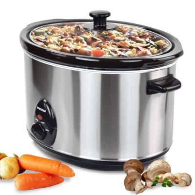 Syntrox 5,6 Liter Edelstahl Slow Cooker mit Warmhaltefunktion