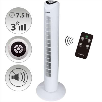 Syntrox Digitaler Turmventilator mit Fernbedienung und Oszillation Schwarz