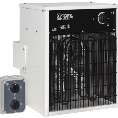 Elektro Wandheizlüfter, 400V/9kW, weiß,