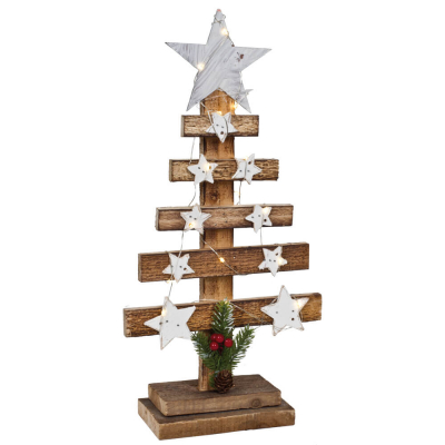 Weihnachtsleuchter Weihnachtsbaum, 15 warmweiße LEDs