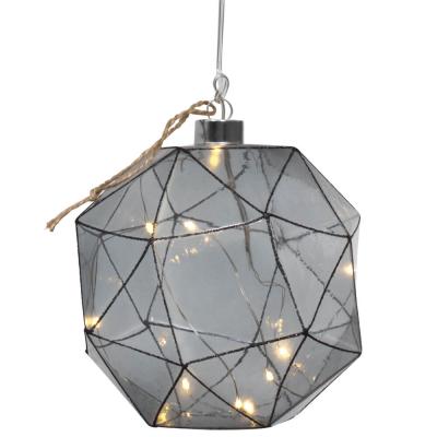 Glaskugel, warmweiße LEDs, ASPLIDEN, Ø 180 mm