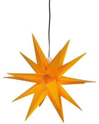 DecoTrend GmbH Weihnachtsstern, ww LEDs, Ø 25 cm, gelb