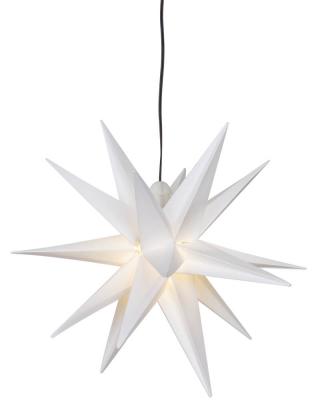 DecoTrend GmbH Weihnachtsstern, ww LEDs, Ø 250, weiß