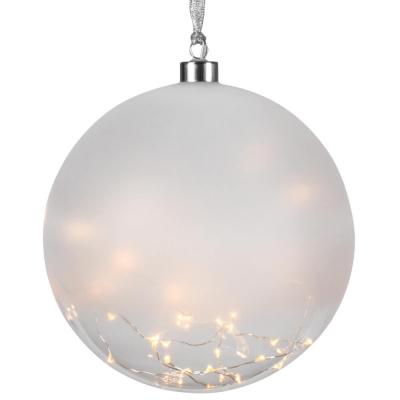 Glaskugel, 50 warmweiße LEDs, GLOW