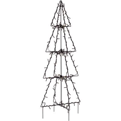 LED-Tannenbaum mit 90 warmweißen LEDs H 90 cm