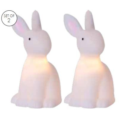 LED-Figuren-Set Polly/Hasen 2tlg. Batteriebetrieb