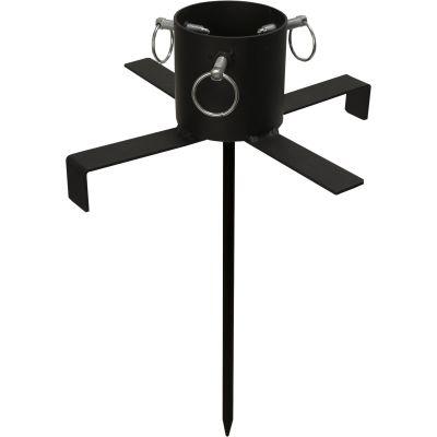 STAR Trading Christbaumständer, Weihnachtsbaumständer Granig schwarz 3-9cm, outdoor