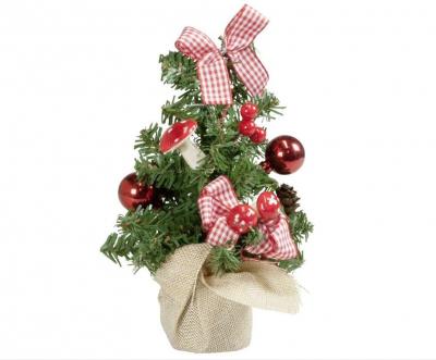 Weihnachtsgesteck 20cm, Weihnachtsbaum, Tischdekokation