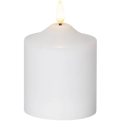 LED-Echtwachskerze flackernd, 1 ww LED, H 120 mm