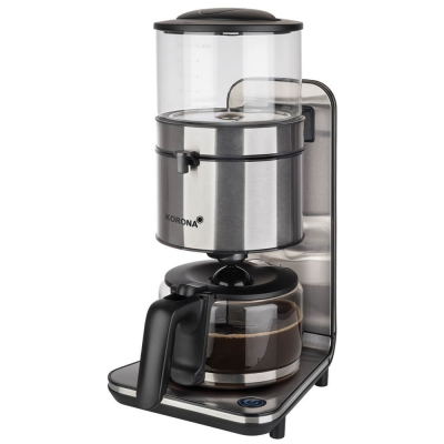 KORONA Kaffeeautomat 10295, schwarz-Edelstahl, 10 Tassen