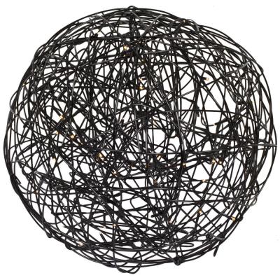 Außenkugelleuchte, 100 warmweiße LEDs, LED-Drahtball, Ø 400 mm