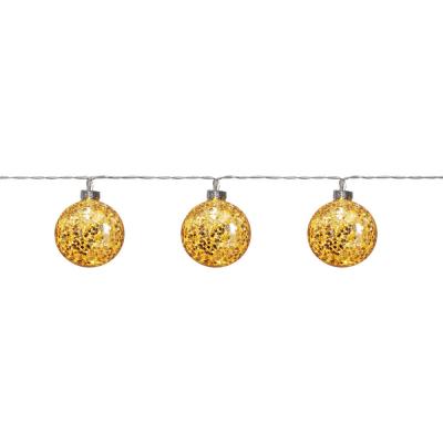 LED-Minlichterkette GLITTER gold, mit Timer