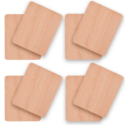 8 x Syntrox Holz Untersetzer für Raclette Pfännchen