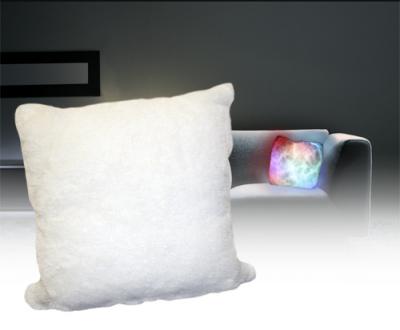 Kissen mit LED Beleuchtung Mondlicht, Kuschelkissen, Sofakissen