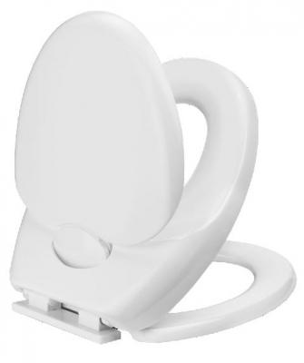 Toilettendeckel WC Deckel mit 3-Fach Absenkautomatik FAMILY aus Thermoplast