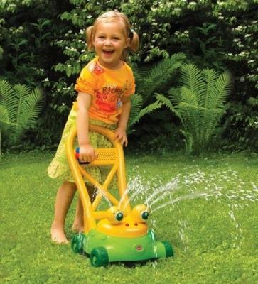 Kinderrasenmäher Rasenmäher FROSCH mit Wasserspritz-Funktion von GOWI