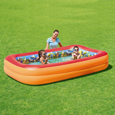 3D Adventure Family Pool Swimmingpool 269 x 175 cm + 3D Schwimmbrillen