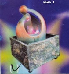 LED Zimmerbrunnen Luftbefeuchtung und Farbwechsler, 19 cm