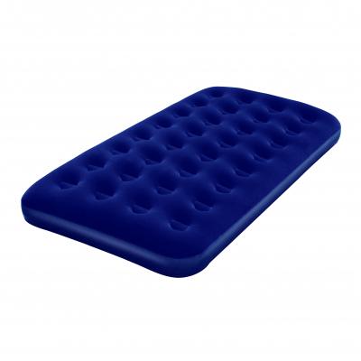 aufblasbares Velour-Gästebett, Luftbett Twin-Size, 188 x 99 cm, blau