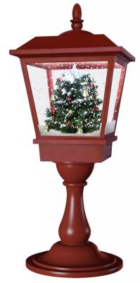 Schneiende LED Tischlaterne 65 cm, Indoor- und Outdoor, Weihnachtslaterne, Motiv Baum