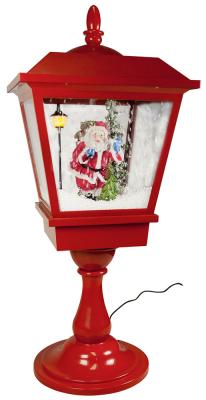 Christmas Paradise Schneiende LED Tischlaterne 65 cm, Weihnachtslaterne, Motiv Santa Claus