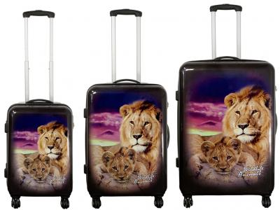 Kofferset 3tlg Reisekoffer Polycarbonat Hartschale LÖWE