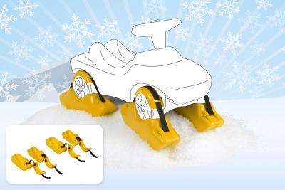 Wader Kufen, Schneekufen 4 Stück für Rutschfahrzeuge, Rutscher