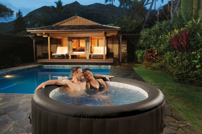 Aufblasbarer Whirlpool Thermo-Sprudelbad Pure SPA 77 Jet Massage mit Kalkschutzsystem