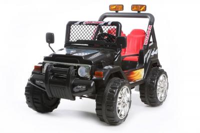 Kinder Elektrofahrzeug 4x4 Schwarz - 12V Zweisitzer