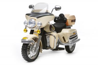 Kinder Elektrofahrzeug Tourenrad Creme - 12V, Motorrad