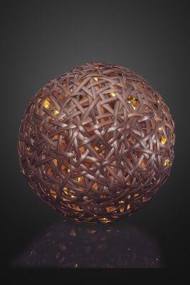 Hellum LED-Rattan-Ball mit Timer
